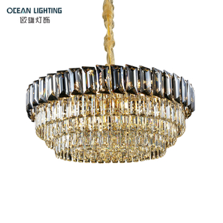 2021 New Design Modern Crystal Pendant Lamp Chandelier Hotel Home Restaurant