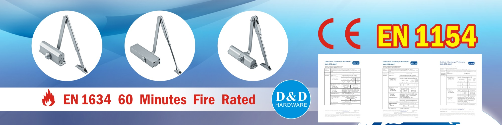 Door Closer with CE certificate, dndhardware.com