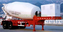 HOWO 2 Axles Concrete Mixer Semi Trailer