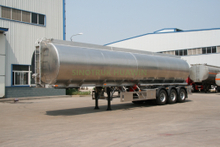 SINOTRUK 3 Axles Aluminum Alloy Fuel Tanker Semi Trailer