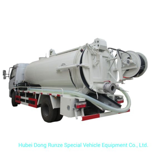 Combined Sewer Vacuum Jetting Truck 6m3 Tanker LHD or Rhd