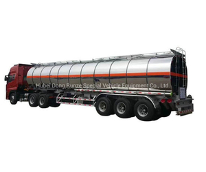 Drz Ammonium Nitrate Emulsion Tank Semi Trailer Insulated Cladding Stainless Steel Shell 27.3cbm Un2426
