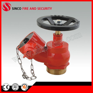 BS336 Oblique Fire Hydrant Landing Valve with Cap and Chain