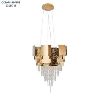 Minimalist simple modern gold Stainless steel led ceiling lamp living room