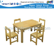 Kids Solid Wood Rectangle Table Furniture for Four (M11-07205)