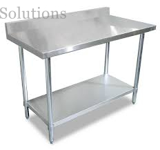 Canteen Dining Hall Restaurant Environment Stainless Steel Table with Splashback