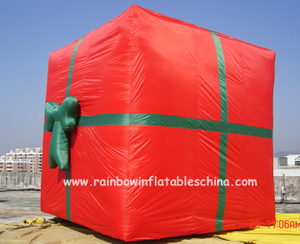 RB20014(3x3m)Inflatable Christmas Gift Box For Holiday Party