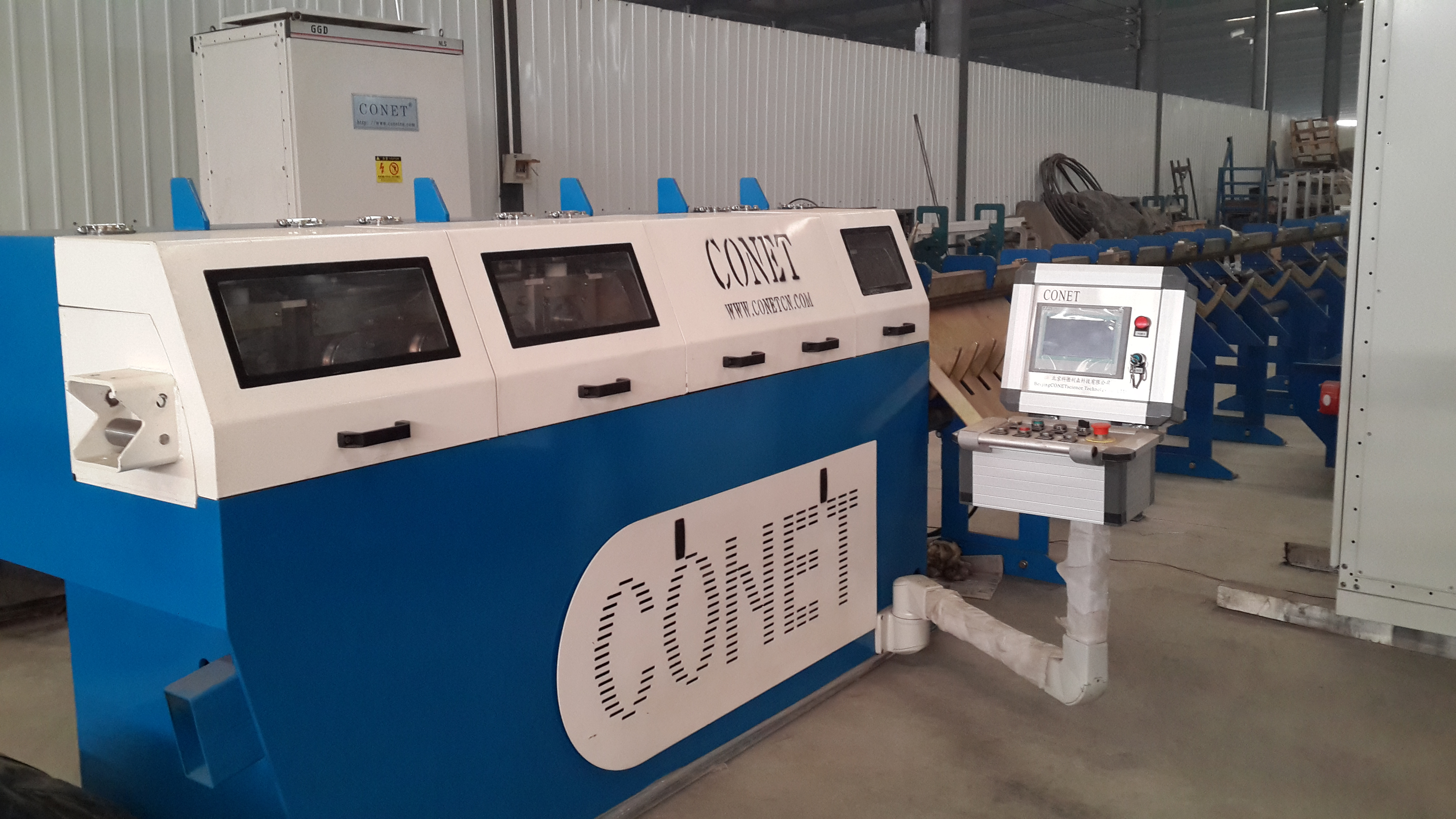 The CONET steel bar straightens the cutting off machine