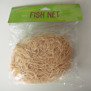 Polyester beige color 30gsm ornamental netting/decorative net