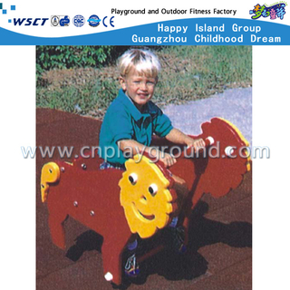 M11-11207 Al aire libre de dibujos animados Monkey Rocking Ride Plastic Playgrounds