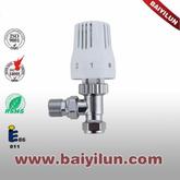 Thermostatic Radiator valve,Red copper pipe angle valve