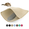 OEM Washable Easy Clean 2 Layers Waterproof Urine Proof Trapping Magic Tape and Leather Edging Non-Slip EVA Cat Litter Mat