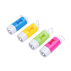 Promotional custom Biodegradable plastic LED Flashlight dog shape pet poop waste bag holder dispenser with Torch