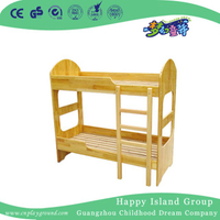 Natural Wooden Children&dm4atp&s Twin Bed with Stair (HG-6507)