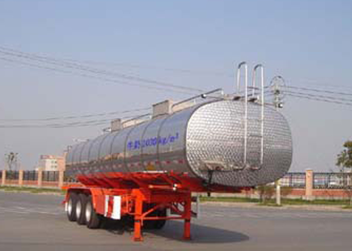 40000L Stainless Steel Tanker Semi-Trailer with 3 BPW Axles for Ice Cream