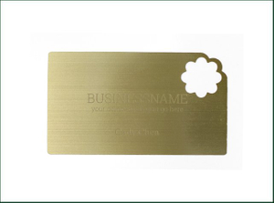 Precious Metal Card with Customer Craft