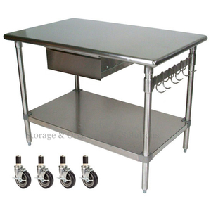 Kitchen Working Desk Big Type Dining Hall Meal Prepare Table