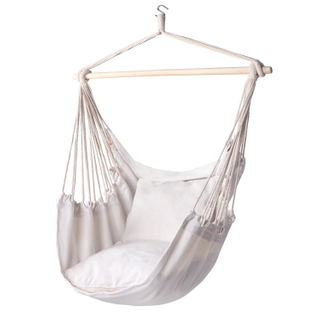Cotton Polyester Hanging Hammock Chair With Two Pillow
