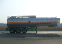 40000L Stainless Steel Insulated Tanker Semi-Trailer with 3 BPW Axles for Ice Cream