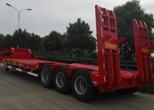 16m 50T Platform Concavity Fixed Gooseneck ( FGN ) Low Bed Semi Trailer with for Super Heavy Machines,Low Bed Trailer