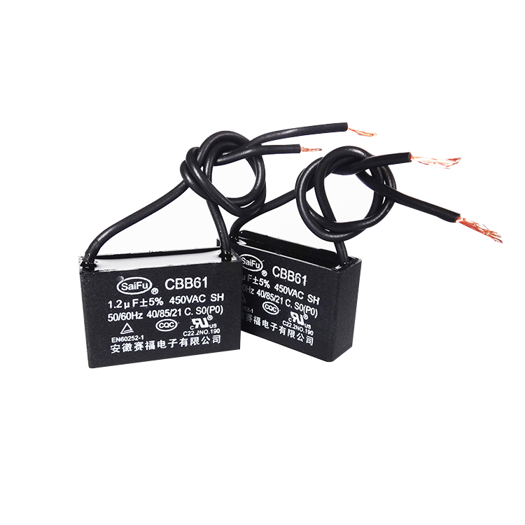 with Cable Capacitor 50//60Hz 2uF//µF CBB61 450 vac