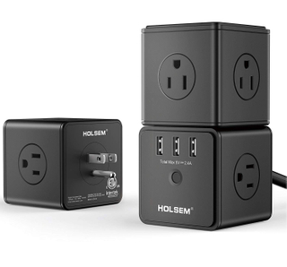 Power Cube Surge Protector 14 AC outlets 3 USB Ports (3 Pack)