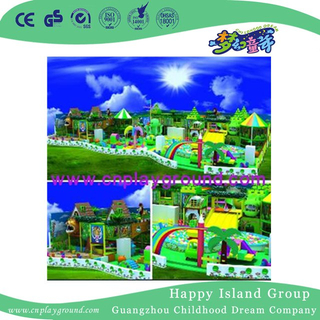 Indoor Large Children Soft Playground para Parque de Diversões (H14-Green)