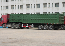 Multi-purpose Dump Semi trailer with 2 box and different hydraulic, Dump Semi Trailer,Tipper