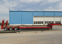 Swivel Axles Low Bed Semi Trailer for Super Heavy Machine Logistic,Low Bed Trailer