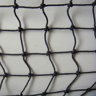 PP with UV 230gsm black color knot cargo net, container net,packing net