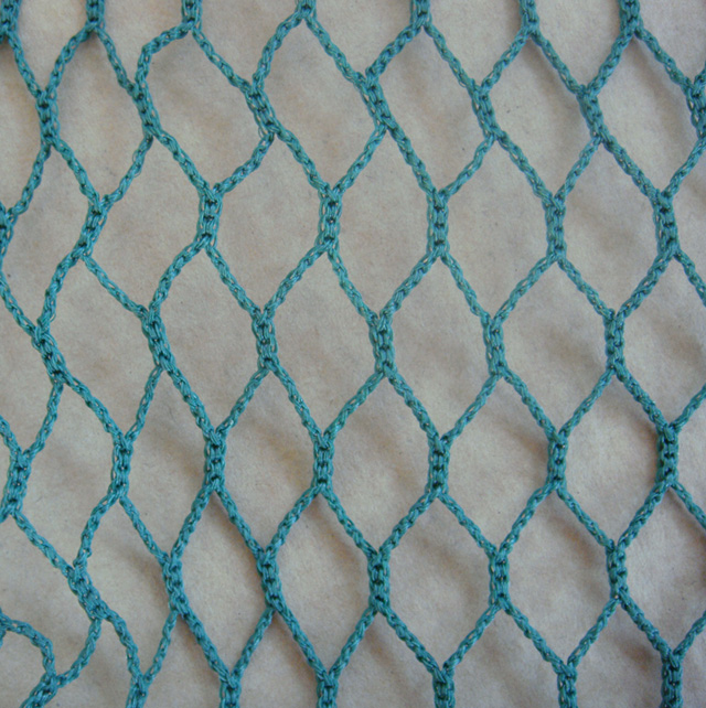 HDPE 230gsm blue color small mesh safety net