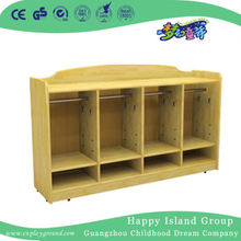 .Kindergarten Wooden Clothes And Shoe Cabinet on Stock(HG-4208)