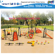 Large Scaled Climber And Swing Combination Steel Structure Playground(HA-11601)