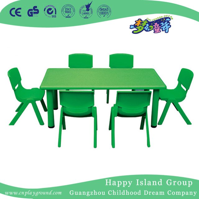 school rectangle table. School Green Economy Plastic Rectangle Table (HG-5101)