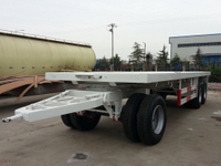 20 Feet 45T Draw Bar Flat Bed Trailer with 3 Axles
