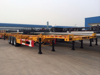 40 Foot Gooseneck Skeleton Container Semi Trailer 3 axles