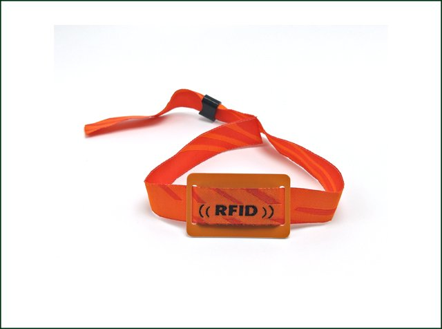 Promotional Textile Admission Woven/Tyvek Paper RFID Wristband