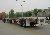 80ft FlatBed Semi Trailer Train with 1 Flatbed Trailer And 1 Draw Bar Trailer