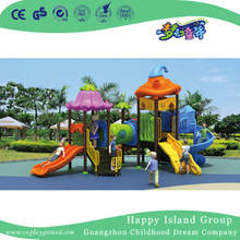 2018 Outdoor Children Vegetable Roof Playground Equipment with S slide (HG-9202)
