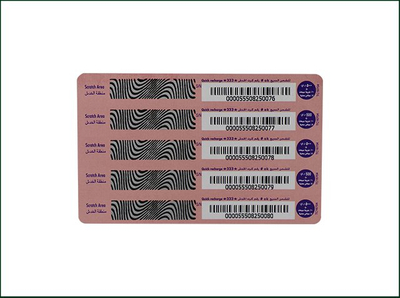 Paper Customized Scratch Off Promotional Prepaid Scratch Cards
