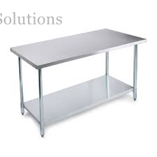 Restaurant Hygienic Workbench Stainless Steel Flat Table