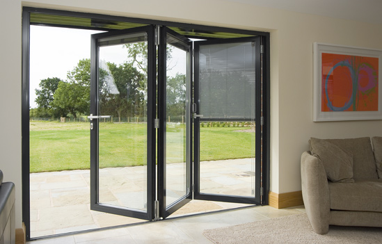 Modern Bifold Doors With Integrated Blinds. Modern Bifold Doors With Integrated Blinds l Foncci   Windows