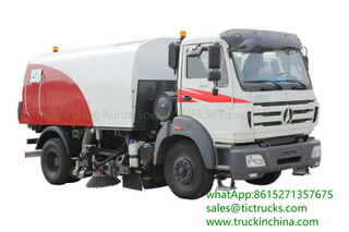 Beiben 8 CBM road sweeper truck water tank 1750 L