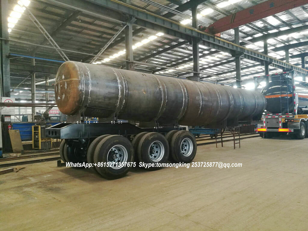 Acid Tanker Semitrailer for Sulfuric Acid Transportation in Zambia V Shape Tanks