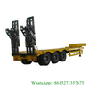 60Ton 13m Low Bed Trailer Customizing with Hydraulic Ramp