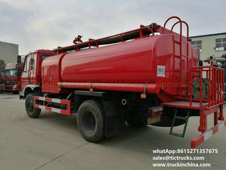 fire pump water 1200Gallon-10cbm water tank lorry truck
