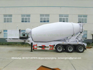 Concrete Mixer Truck Trailer 8 CBM - 18 CBM 2 /3 Axles