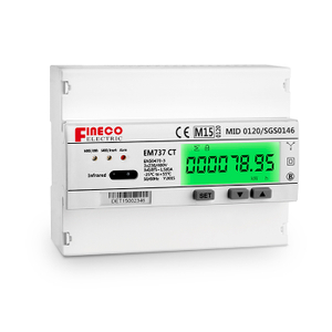 EM737 CT MID apporved three phase energy meter three phase multi rates kwh meter rs485 modbus meter