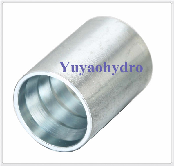 Stainless steel crimp ferrule for sae r a