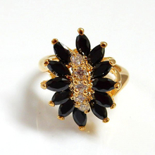 Jet Marquise Fashion Jewelry Ring